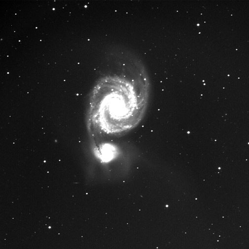 24 inch telescope image of M51
